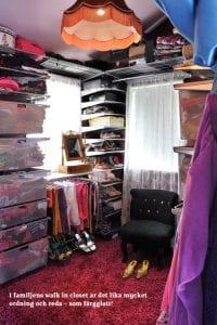 Snyggt inredd garderob
