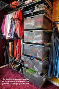 Inredning & förvaring i garderob