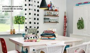 Inspiration arbetsrum - bordet mitt i rummet