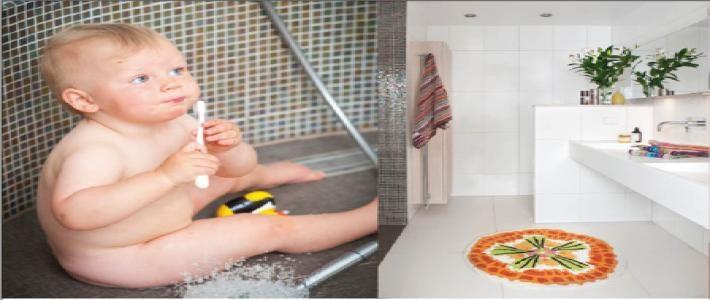 Dusch med havsutsikt