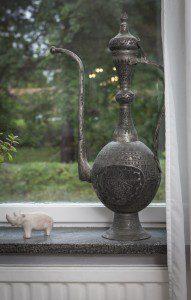 Anders Lundin hemma i villan i Stockholm.