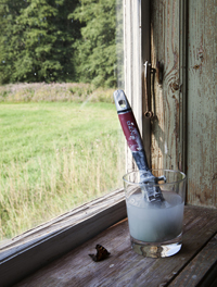 Skrapa, olja och måla fönster renovera_pensel