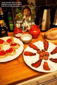 Jovan Radomir bjuder på delikatesser