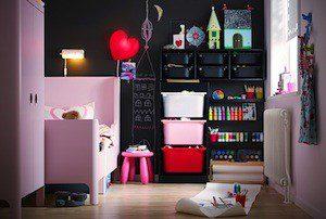 Inredning garderob i barnrum