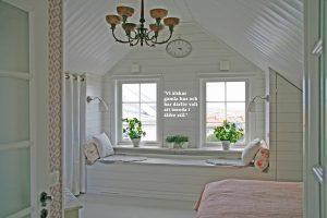 Sovrummet hos Jim och Susann i Smögen 1