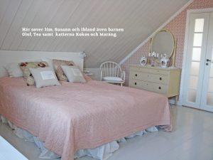 Sovrummet hos Jim och Susann i Smögen 5