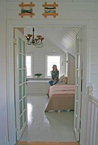 Sovrummet hos Jim och Susann i Smögen 7
