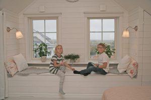 Sovrummet hos Jim och Susann i Smögen 8
