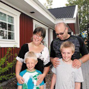 Att installera larm är inget familjen Olsson ångrar