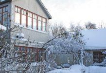 Vintervacker trädgård