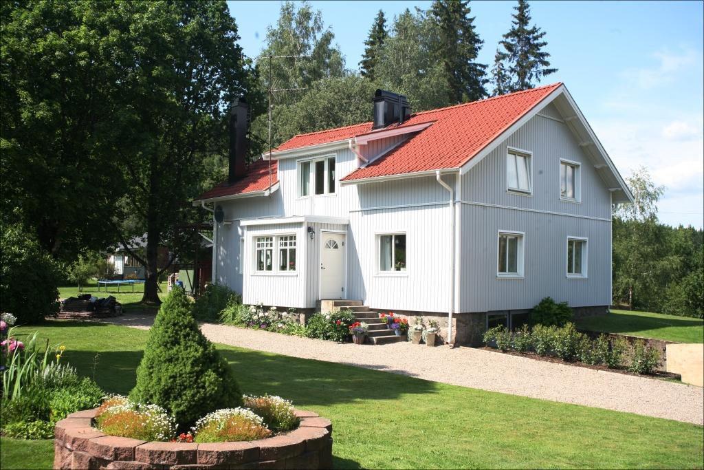 måla huset underhållsfri PVC fasad