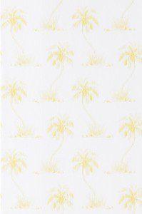 tapet vit med gula blommor tussilago