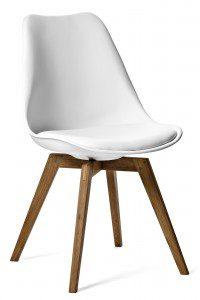 vit stol med träben mio