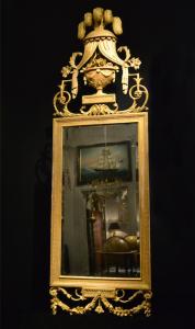 Antik spegel funnen som loppisfynd