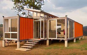Hus av container Costa Rica fasad