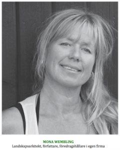Mona Wembling landskapsarkitekt författare föredragshållare i egen firma