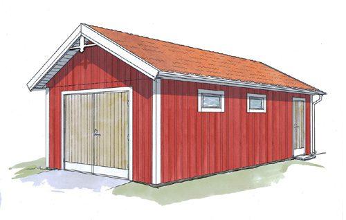 Floods Trähus Garage