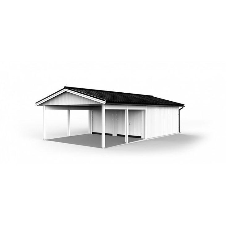 Lövångers Bygg Garage med Carport 6