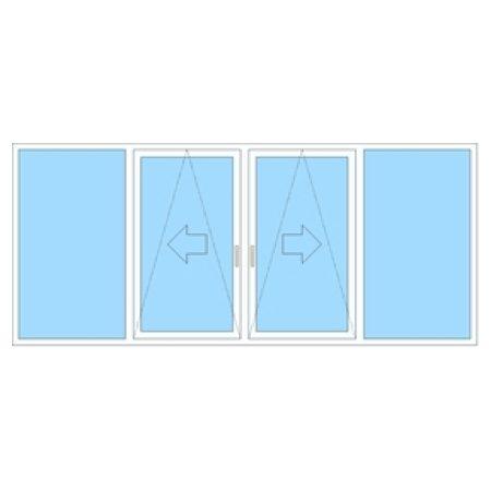 Menta Fönster 4-delat glidskjutparti i pvc typ 61