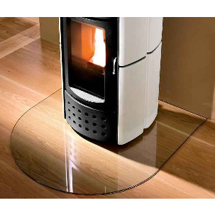 Nordic Heating Golvglas 1000x900 rundad