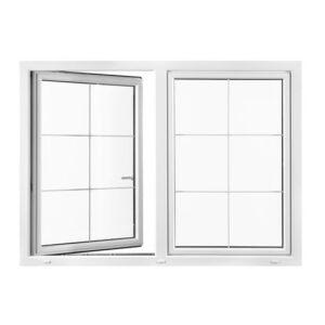 Nordiska Fönster 2-luft öppningsbara PVC fönster 3-glas