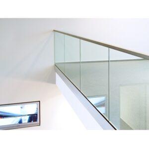 Vetro Easy Glas- Sidomonterad U-skena