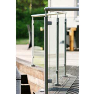 Vetro Glasräcke Design- Toppmonterat med överliggare