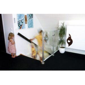 Vetro Glasräcke Design- Toppmonterat utan överliggare