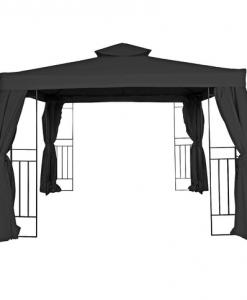 K-rauta Paviljong Rome 3x3 m svart m vägg