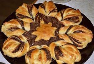 Stjärnbröd med nutella