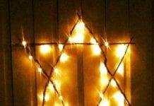 Julpyssel väggstjärna
