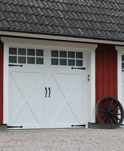 TF Osbydörren Garageport Modell Coachman