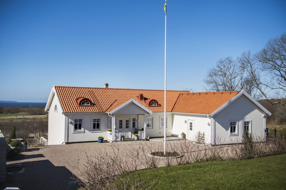 Hasse Kvinnaböske Anderssons hus på Bjärehalvön i Skåne