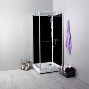 NORO Ocean C duschkabin (stängd dörr)  svarta väggar 790mm art