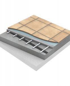 Uponor Golvvärme i betong med rörhållarkena 12