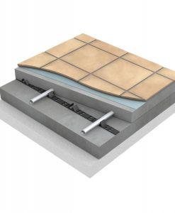 Uponor Golvvärme i betong med rörhållarkena 20
