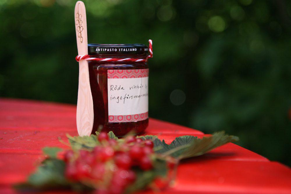 Vinbärsmarmelad med ingefära