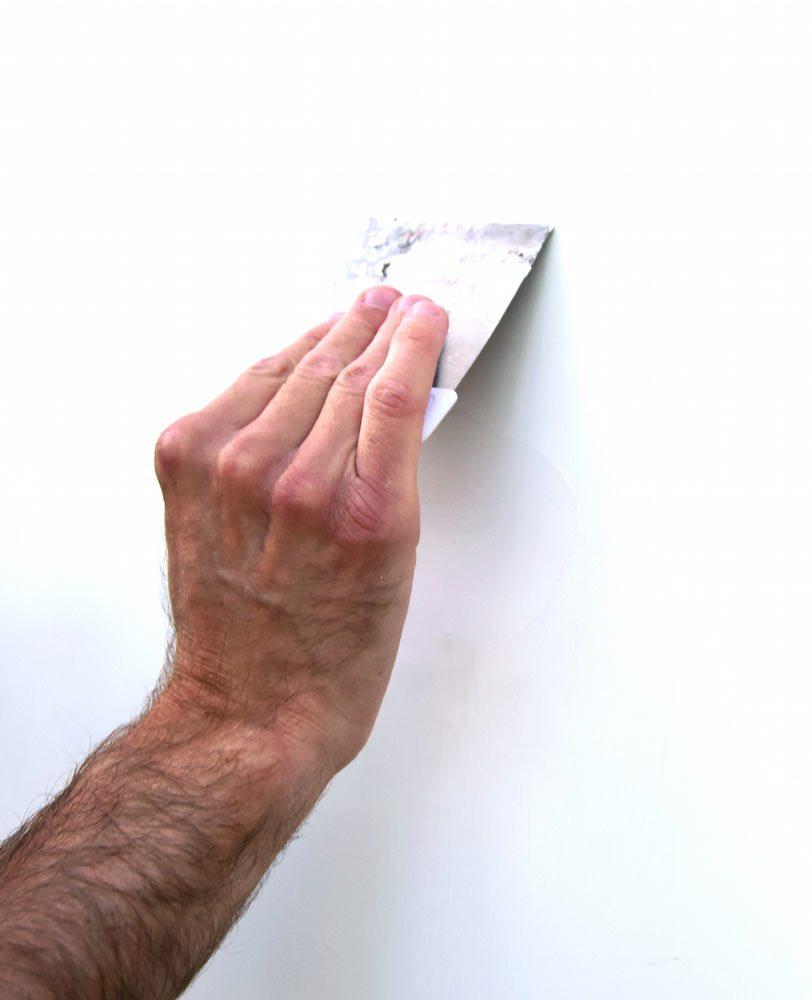 Tapetsera innerdörr - spackel