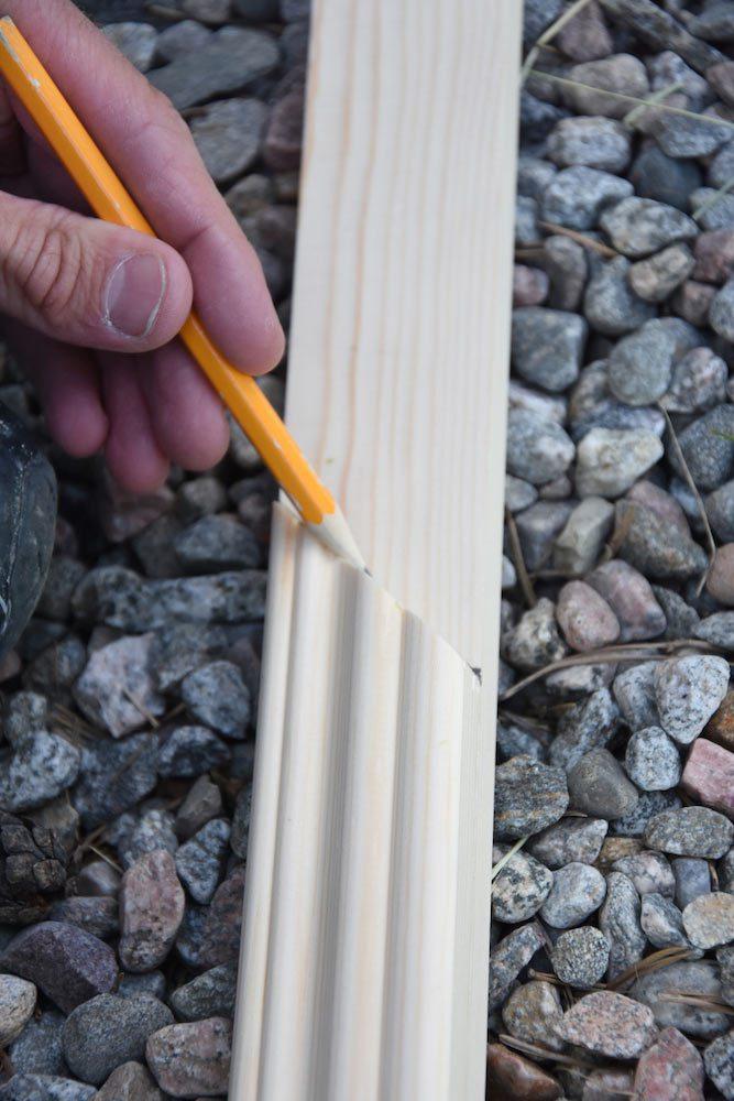 Måla innerdörrar - rita ut längd