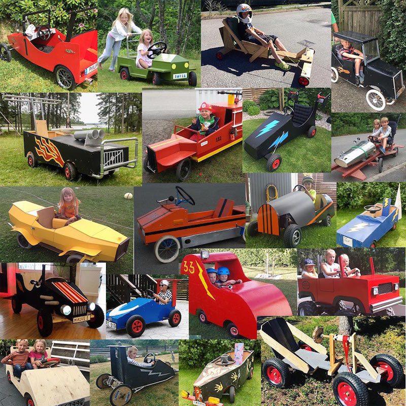 Axplock av coola lådbilar i lådbilstävlingen