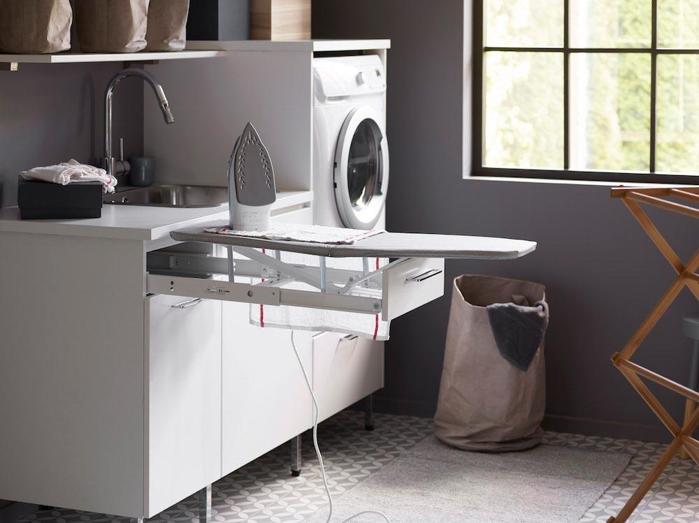 Inreda tvättstuga - mindre plats, mer rum