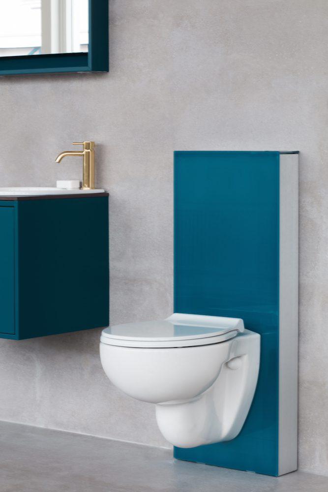 Toalett inspiration - vägghängande stol