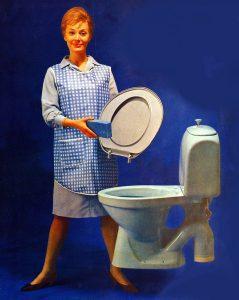 På toaletten