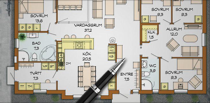 Bygga hus planlösning