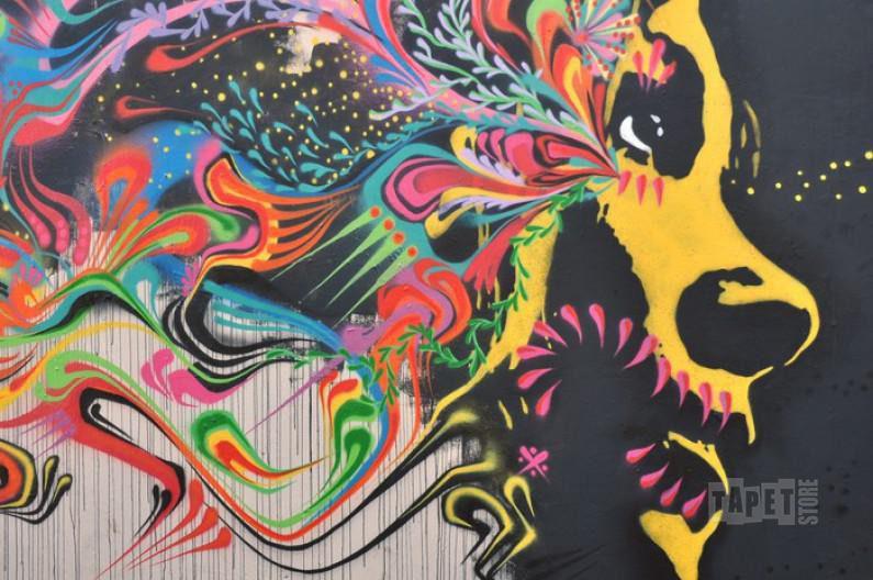 Självhäftande tapeter Street Art