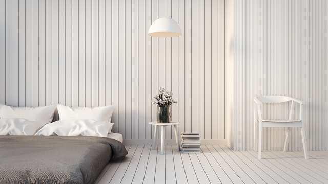Färgsättning sovrum - vita träpaneler