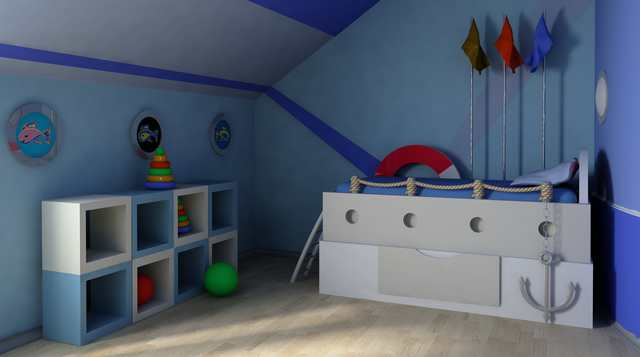 Inspiration till barnrum maritimt tema