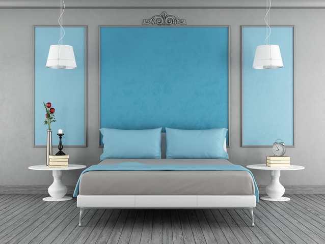 Färgsättning sovrum - paneler