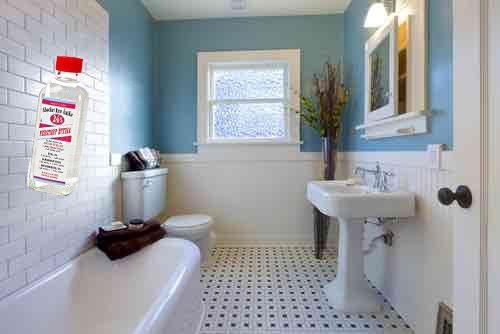 Städa badrum med ättika