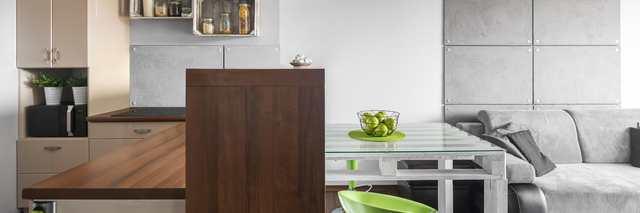 Små sovrum - matbord gränsar av